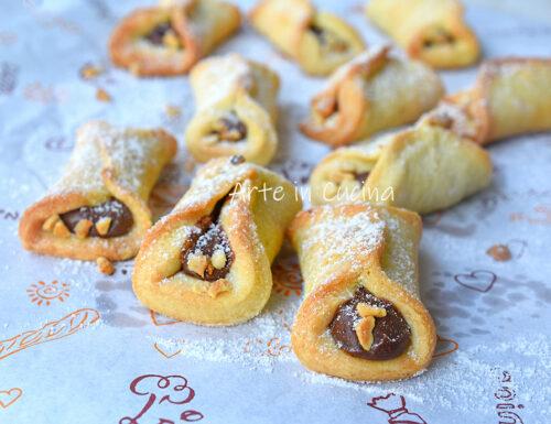 Biscotti con nutella veloci