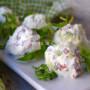 Polpette ricotta zucchine e bresaola fredde senza cottura