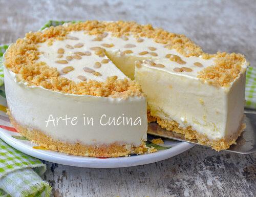 Torta della nonna fredda cheesecake gelato
