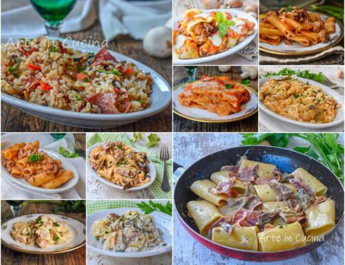 Primi piatti con funghi ricette