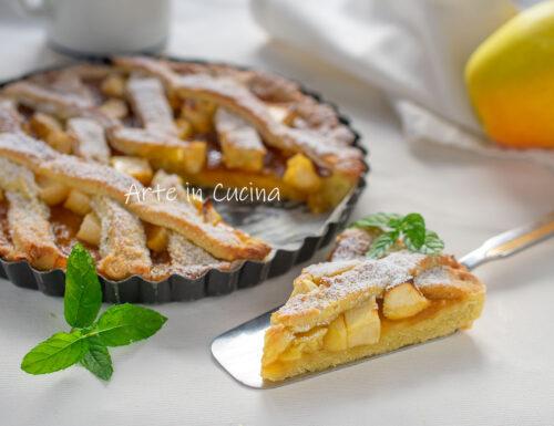 Crostata morbida senza burro mele e marmellata