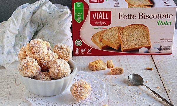 Tartufini Bianchi con Fette Biscottate Viall senza glutine