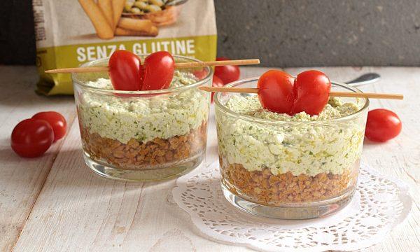 Cheesecake Salata in bicchiere con Gris Mini di Inglese