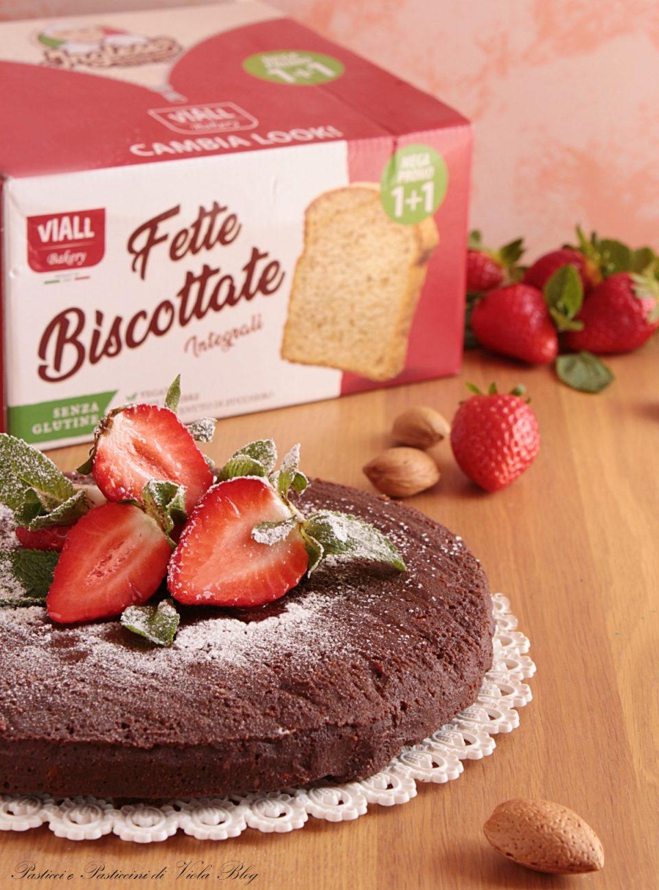 Facile e veloce e senza cottura Torta al Cioccolato con Fette Biscottate - Pasticci e Pasticcini di Viola Blog