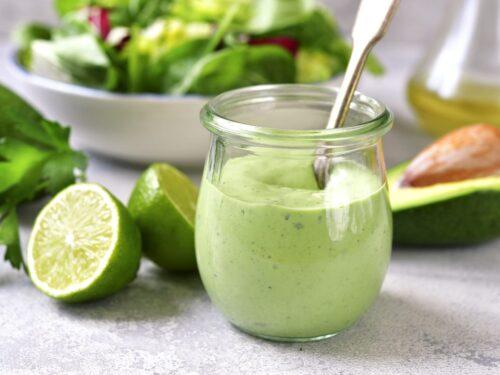 Maionese vegan all'avocado