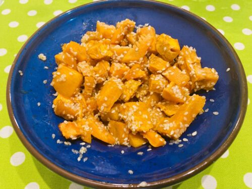 Patate dolci al forno con sesamo