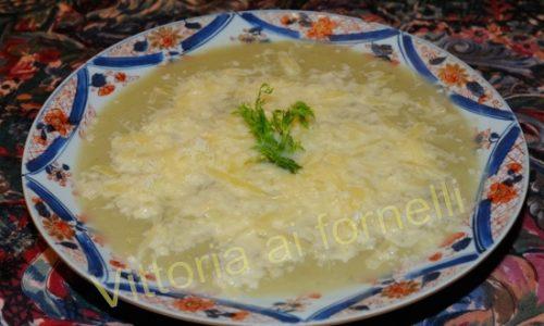 Vellutata di finocchi al formaggio, facile ricetta vegetariana