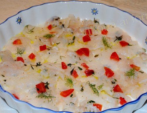 Carpaccio di rana pescatrice, ricetta di mare