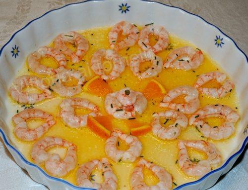Gamberi marinati all'arancia, ricetta di mare