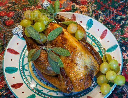 Faraona all'uva, ricetta facile al forno