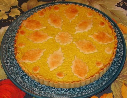 Torta salata con cavolfiore e curry