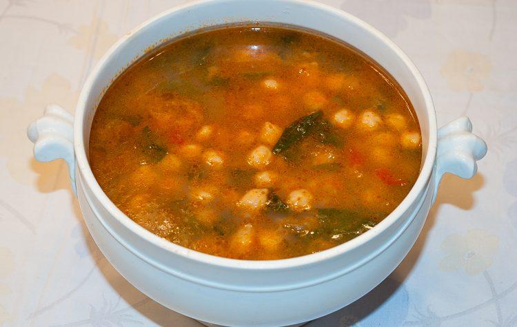 Zuppa di ceci, ricetta di legumi