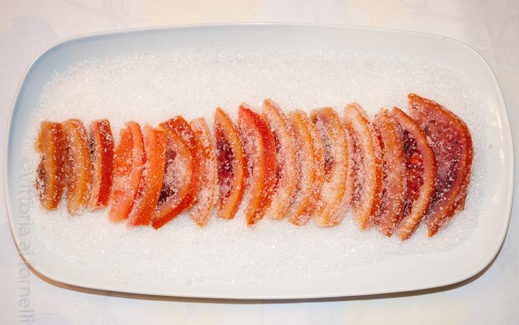 scorzette di arancia candite, golosità