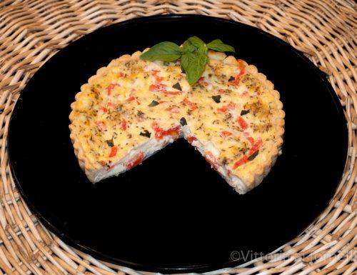 Quiche pomodori, mozzarella e origano