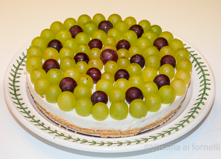 cheesecake salata uva e gorgonzola