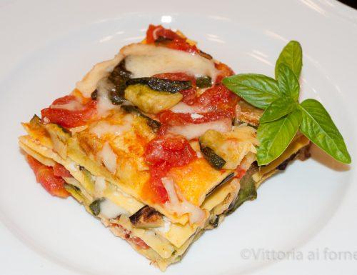 Lasagne con zucchine e mozzarella, semplici e gustose