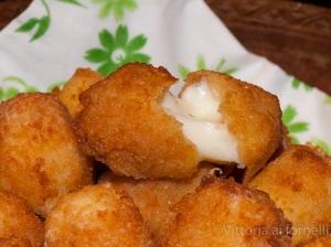 crocchette di formaggio aperte