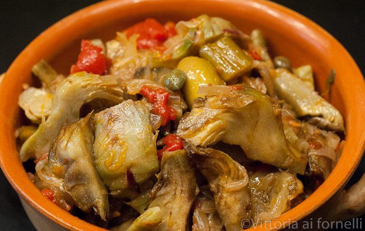 Caponata di carciofi, ricetta siciliana