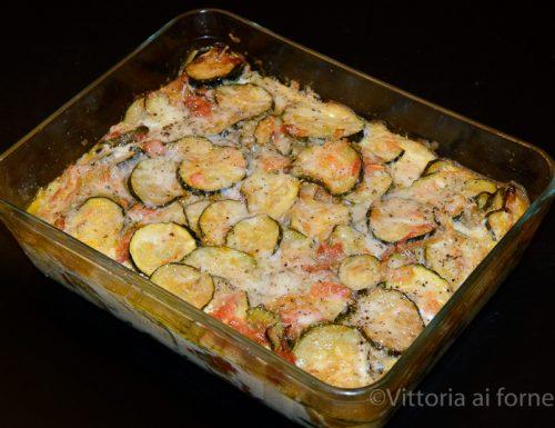 Gratin di zucchine e mozzarella, ricetta facile e veloce
