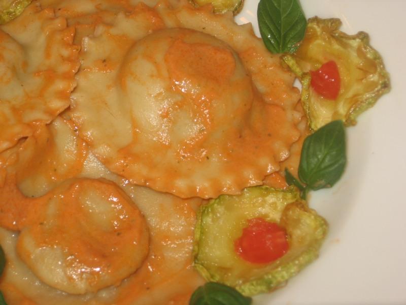 ravioli di Russello con zucchine
