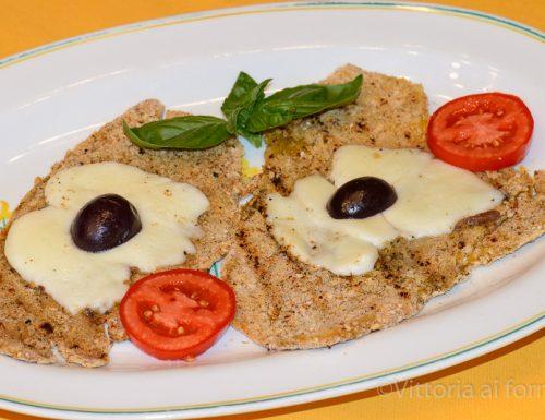 Cotolette di peperoni con formaggio e olive