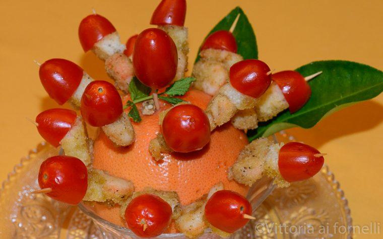 Gamberetti gratinati, ricetta finger food