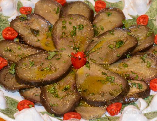 Melanzane marinate, ricetta facile