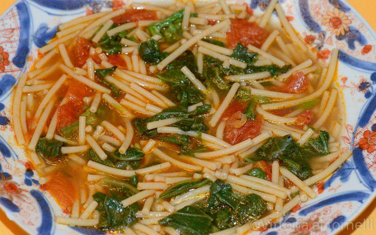 Pasta con i tenerumi, minestra siciliana