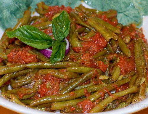 Fagiolini al pomodoro, ricetta siciliana