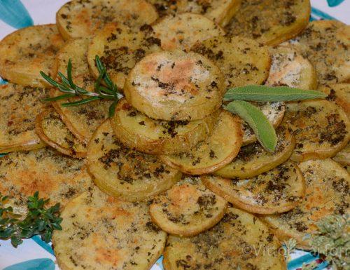 Patate gratinate alle cinque erbe
