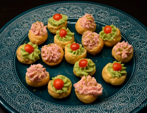Bigne salati farciti, finger food facile