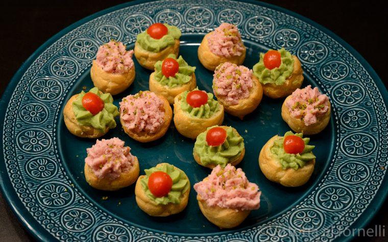 Bigne salati farciti, finger food facile