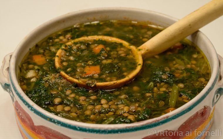 Zuppa di borragine e lenticchie