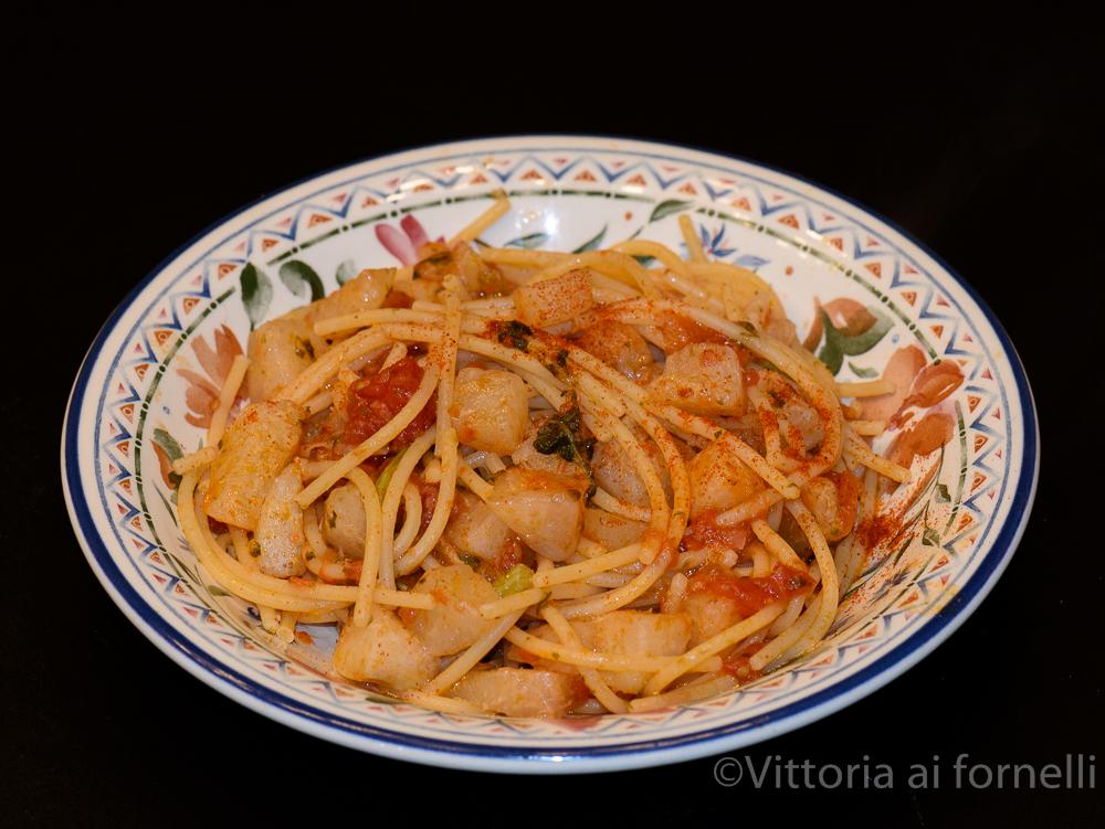spaghetti con cavolo rapa