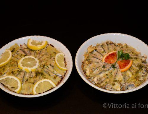 Tortino di alici con carciofi e patate