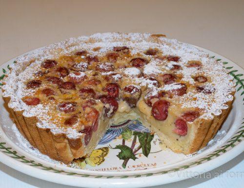 Torta di ciliegie  e crema (tarte aux cerises)