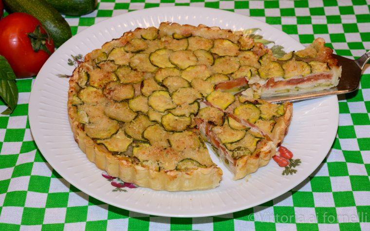 Torta salata alle zucchine, ricetta facile