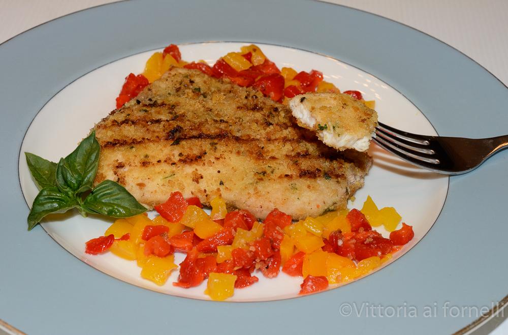 Cotoletta di pesce spada panato, senza uova