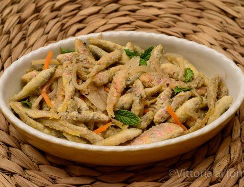 Scapece di pesciolini fritti, piatto tradizionale