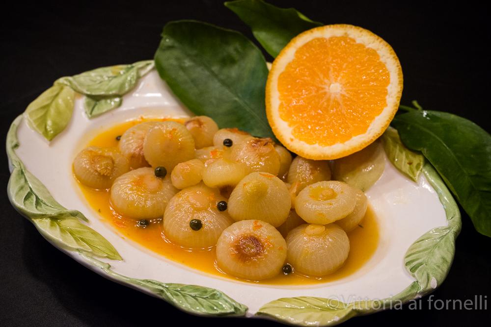 Cipolline in agrodolce all'arancia, ricetta sfiziosa