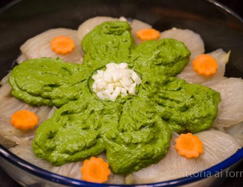 Finocchi brasati in tegame con salsa verde