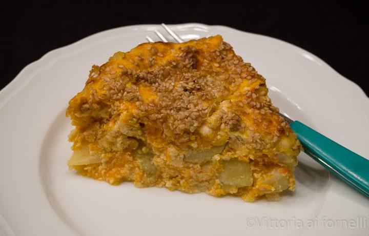 Sformato di zucca con ricotta e patate