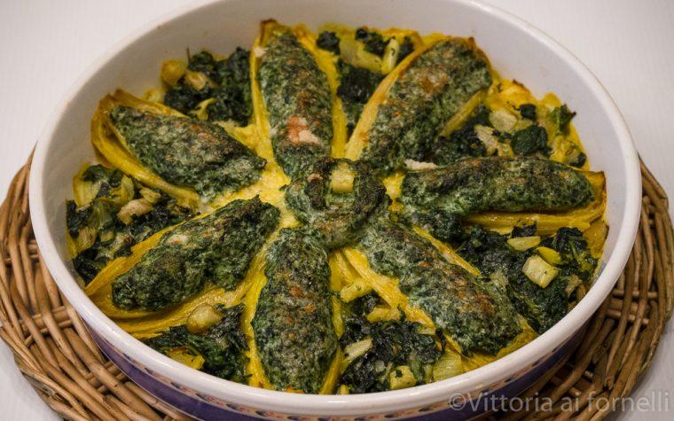 Indivia farcita con ricotta e spinaci