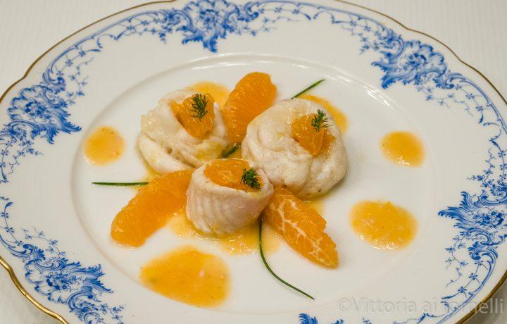Involtini di sogliola con arancia e zenzero