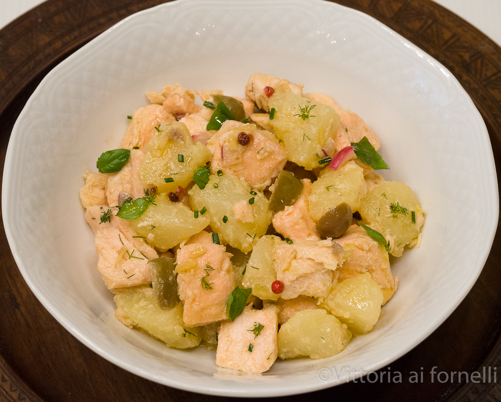 insalata di salmone e patate