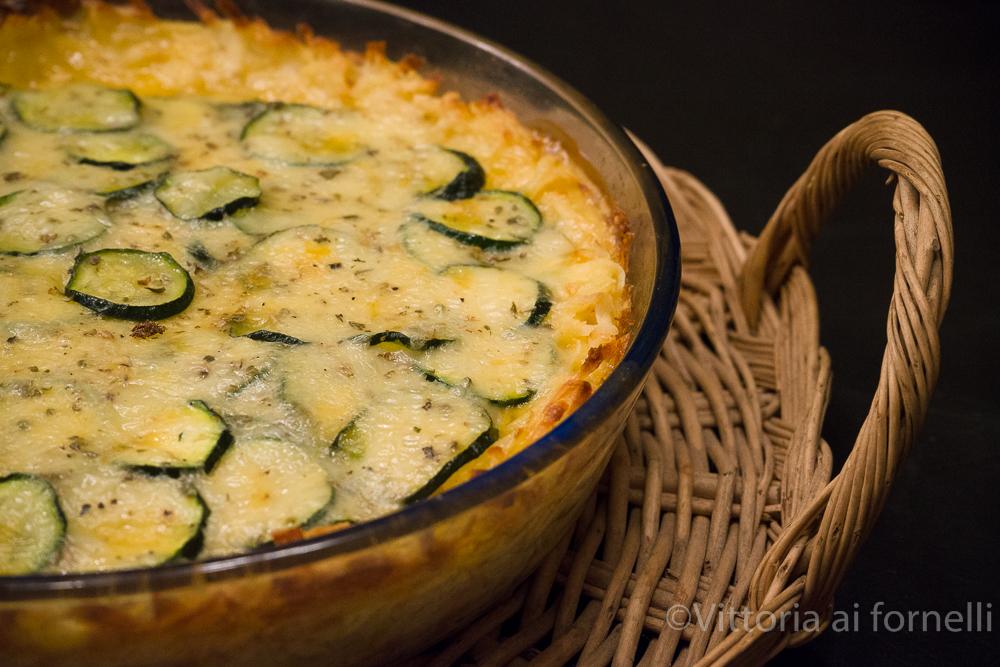Torta di patate con zucchine e formaggio