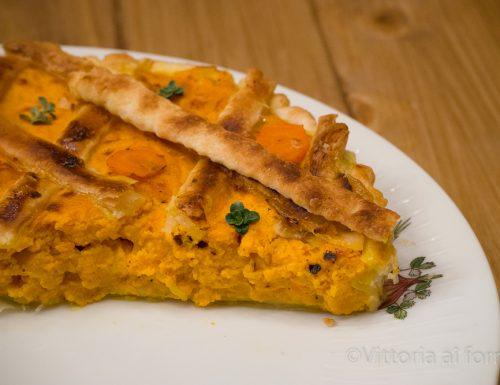 Crostata salata con carote ed emmental