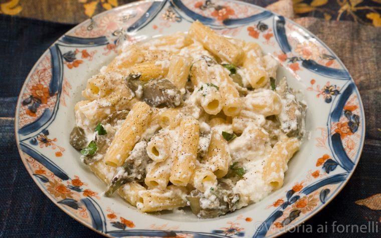 Pasta con carciofi e ricotta, ricetta siciliana