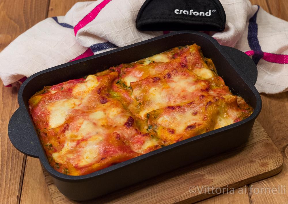lasagne ricotta e spinaci con mozzarella