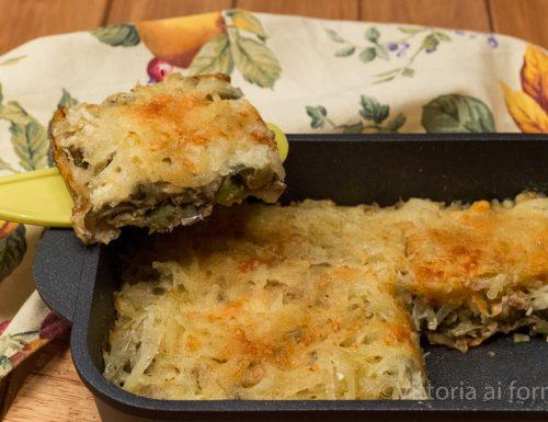 Tortino di carciofi con patate e provola, ricetta facile in padella